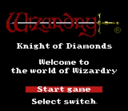 Wizardry III - Knights of Diamonds